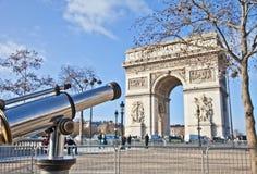 巴黎-凯旋门 库存照片