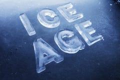 年龄冰 免版税图库摄影