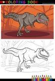 暴龙上色的rex恐龙 免版税库存照片
