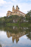 巴洛克式的修道院多瑙河melk 库存图片