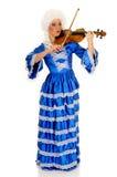 巴洛克式的小提琴手 库存图片