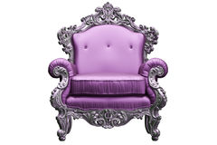 巴洛克式的扶手椅子 免版税图库摄影