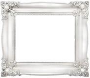 巴洛克式的框架白色 库存照片