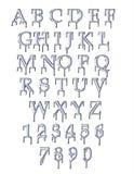 水滴字体 免版税库存照片