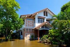 洪水房子泰国 图库摄影