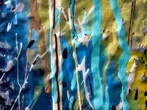 水滴油漆纹理 库存照片