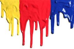 水滴油漆 免版税图库摄影