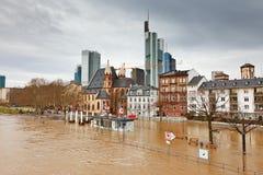洪水法兰克福 免版税库存照片