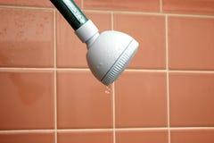 水滴淋浴喷头 库存照片