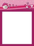 质朴的标头粉红色 免版税库存图片