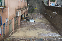 洪水 免版税库存照片