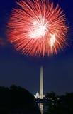ô de fogos-de-artifício de julho Fotografia de Stock