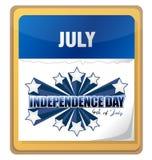 ô do calendário do fundo do Dia da Independência de julho Imagens de Stock