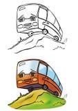 Ônibus alegre Fotografia de Stock Royalty Free