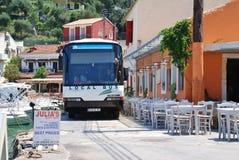 Ônibus da ilha de Paxos, Loggos Imagem de Stock Royalty Free