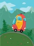 Ônibus vermelho do curso Foto de Stock Royalty Free