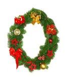 0个字母表圣诞节编号 库存照片