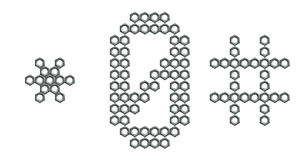 0个数字行业胡说的螺丝符号 库存图片