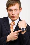 0 επιχειρηματίας που εμφ&alph Στοκ Εικόνα
