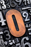 0 номеров backgound Стоковое Изображение