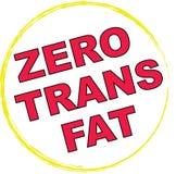 0 тучных trans символа Стоковые Изображения