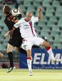 (0) (1) jako mecz futbolowy Roma vasas vs Zdjęcia Royalty Free