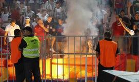 (0) (1) jako mecz futbolowy Roma vasas vs Zdjęcie Royalty Free