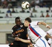 (0) (1) jako mecz futbolowy Roma vasas vs Zdjęcia Stock