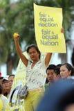 (0) 2 3 bersih Malaysia Penang protest Obrazy Royalty Free