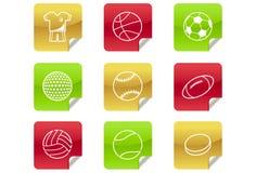 0 2 8个球博克图标体育运动万维网 图库摄影