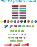 (0) 2 grafika mieszanych sieci Fotografia Stock