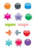 (0) 2 ikon sieci Obrazy Stock