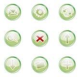 0 2 symboler ställde in rengöringsduk royaltyfri illustrationer