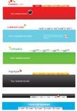 (0) 2 szablonów sieci Fotografia Stock