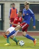 0 5 Венгрия Лихтенштейн против Стоковая Фотография RF