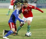 0 5 Венгрия Лихтенштейн против Стоковое Изображение