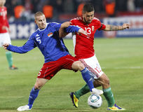 (0) 5 Hungary vs Liechtenstein Zdjęcia Royalty Free