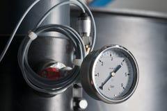 0 6 запирают давление по манометру Стоковая Фотография RF
