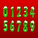 Концепция номеров от 0 до 9 Стоковые Изображения