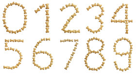(0) 9 liczb Obraz Stock