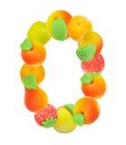 (0) alfabetu owoców numerów Obraz Stock