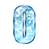 0 alphabet number winter zero Στοκ φωτογραφίες με δικαίωμα ελεύθερης χρήσης