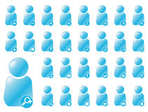 0 användare för stil för 2 aquasymboler arkivfoton