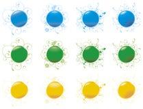 0 blanka rengöringsduk för 2 knappar stock illustrationer