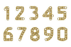 0 cirkel för pull för 9 cansnummer Royaltyfri Illustrationer