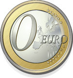 0 Euro. No one payment vector illustration