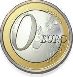 0 euros Imágenes de archivo libres de regalías