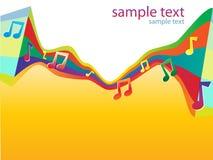 0 för färgmusikal för abstrakt bakgrund ljusa vektor Arkivbilder