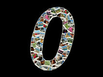 0 figure - collage delle foto di corsa Fotografia Stock