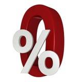 0% korting vector illustratie